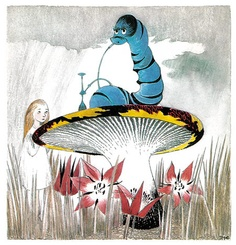 tove jansson illustration from a 1966 swedish edition of lewis carroll's alice in wonderland