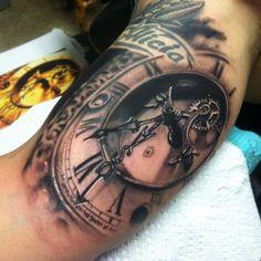 15 Wonderful Clock Tattoos