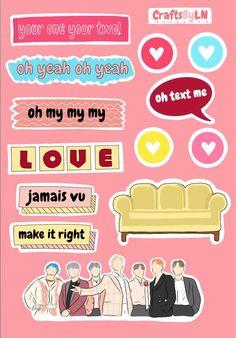 BTS Boy with luv sticker sheet Kpop Stickers, Stickers Kawaii, Tumblr Stickers, Diy Stickers, Printable Stickers, Journal Stickers, Planner Stickers, Bts Tickets, Kpop Diy