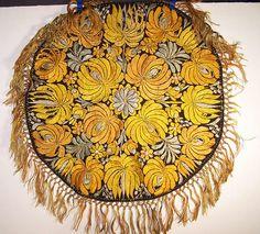 Hungarian Embroidery Pattern Matyo Hungarian Folk Embroidery Round Tablecloth Back View. Hungarian Embroidery, Folk Embroidery, Learn Embroidery, Embroidery For Beginners, Embroidery Techniques, Chain Stitch Embroidery, Embroidery Stitches, Embroidery Patterns, Stitch Head