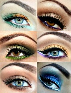 I like how the've made colorful eyeshadow wearable. I don't know if I could get away with these, but they're still good ideas.