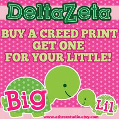 Delta Zeta Creed Illustration UnFramed 11x17 Print by AThreeStudio #deltazeta