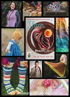 Yarn Magazine issue 45 is nearly here - and it has a new look! This issue is filled with an incredibly diverse array of articles and projects - there are projects for crochet, knitting and felting, and information in the articles on so much more! Knitting Designs, Felting, New Look, Knit Crochet, Articles, Magazine, Projects, Pattern, Knitting Projects