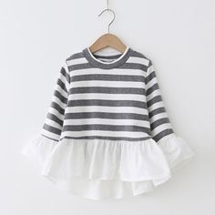 Pretty Striped Pleated Dress for Baby and Toddler Girl Toddler Dress, Baby Dress, Toddler Girl, Kids Winter Fashion, Kids Fashion, Pretty Outfits, Cool Outfits, Buy Clothes Online, Frocks For Girls