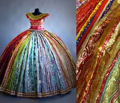 Dress make of Russian foil candy wrappers