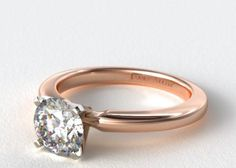 This classic, timeless diamond ring. | 43 Stunning Rose Gold Engagement Rings That Will Leave You Speechless