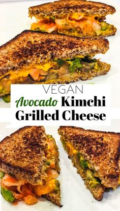 Packed with tons of protein, fiber, probiotics, and health benefits - this easy and simple vegan avocado kimchi grilled cheese recipe will blow your mind!