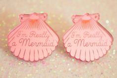 Mermaid Jewelry // I'm Really a Mermaid Shell Earrings