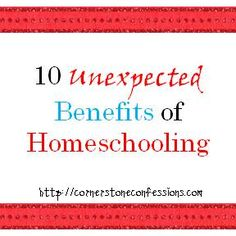 10 Unexpected Benefits of Homeschooling.  I remember experiencing some of these myself when I was homeschooled growing up. :)