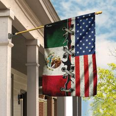 Mexican American Flag, Christmas Vacation Movie, Independence Day Flag, Mexican Flags, All Flags, Chicano Art, Flag Stand, Creative Artwork, House Flags