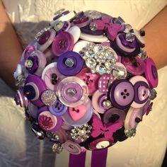 Small Purple Bridesmaid Button Bouquet, wedding bouquet, wedding flowers, UK seller