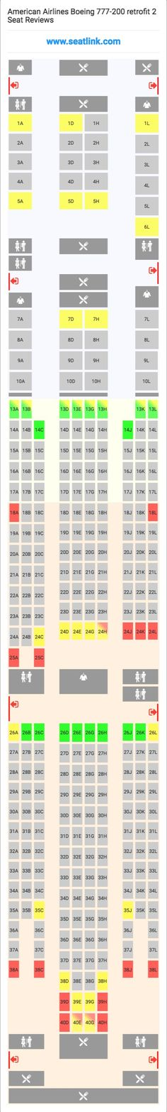 American Airlines Seating Chart 772 Review Home Decor