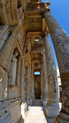Library of Celsus in Ephesus was built in honor of the Roman Senator Tiberius Julius Celsus Polemaeanus. Celsus had been consul in 92 AD, governor of Asia in 115 AD, and a wealthy and popular local citizen. He was a native of nearby Sardis and amongst the earliest men of purely Greek origin to become a consul in the Roman Empire and is honored both as a Greek and a Roman on the library itself. Celsus paid for the construction of the library with his own personal wealth.