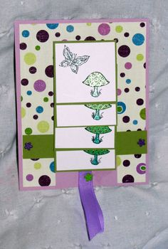 Waterfall card-- pull the tab and the pictures flip up. Waterfall Cards, Scrapbook Cards, Scrapbooking, Flip Cards, Explosion Box, Moving Pictures, Projects To Try, Paper Crafts, Stamping