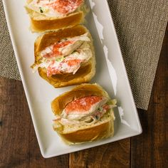 Make your own mini seafood rolls with white tea buns and pre-made seafood salad.