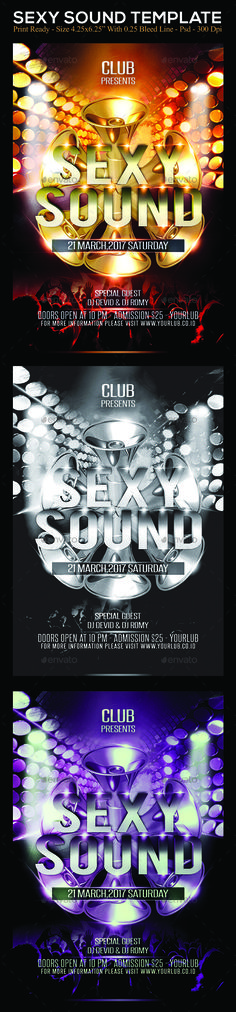 #Sexy Sound - Clubs & Parties #Events Download here: https://graphicriver.net/item/sexy-sound/19540318?ref=alena994