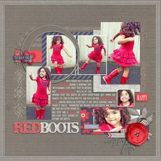 Misty shines as a fabulous scrapper as well as a designer! Look at how those red words just POP out and we love the flow of her layout!