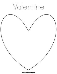 Valentine Coloring Page from Twisty Noodle