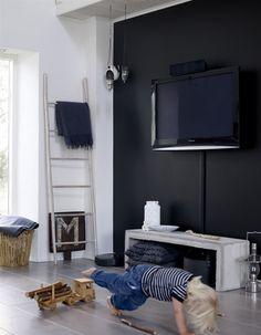 En sort væg i stuen?