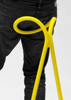 """Spline. """"This biped stool puts you in a balanced half-sitting/half-standing position"""""""