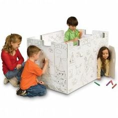 cardboard castle that the kids can color and decorate.