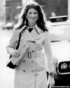 The beautiful young Martha Stewart in her Wall Street days. Her look is so classic, it's still in style today.