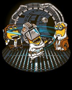 Minion Jedi Training Art (Despicable Me / Luke Skywalker / Obe Wan Kenobi / Han Solo)