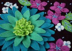 Blue colorway flowers, via Flickr.