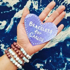Support Carlos, a young Nicaraguan fisherman, to pursue his dream of becoming a teacher with the purchase of these charity bracelets! Becoming A Teacher, Gemstone Jewelry, Charity, Gemstones, Bracelets, Beauty, Bangles, Beleza
