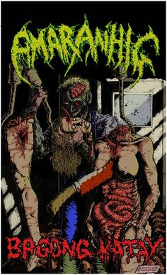 So i gut out the finality of this. CD cover art for AMARANHIG grind/death band in the philippines. Cd Cover Art, Philippines, Death, Comic Books, Band, Comics, Sash, Cartoons, Cartoons