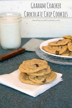 Graham Cracker Chocolate Chip Cookies | Jens Favorite Cookies