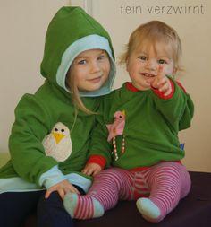 Heute gibts die Mädels im von Partnerlook...in ihren neuen Hoodies nach dem komplett überarbeiteten und veränderten LetzFetz 2.0 von ...