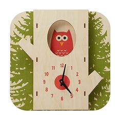 "Awww cute ""Owl in a Tree"" clock $38 #uncommongoods"