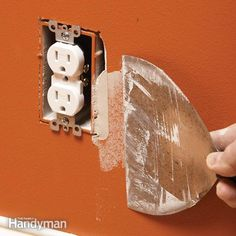 an oversize drywall cutout around an electrical box can ruin the appearance of an otherwise perfect taping job. the best way to fix it is with drywall compound and joint tape.