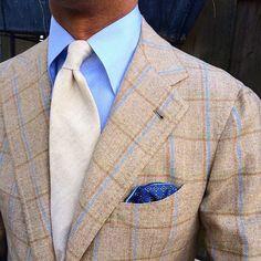 "Viola Milano - ""Creme"" 7-fold cashmere tie…"