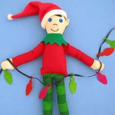 Christmas Elf Sewing Pattern - How to Make an Elf Doll - Downloadable PDF tutorial