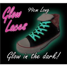 Glow in the Dark Shoe Laces - Green. Of course I need to have these. Wishlist item!
