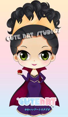 Fashionable Chibi Evil Queen by crowndolls on deviantART