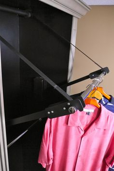 New Wood Lift Motorized Clothes Rail Storage Closet