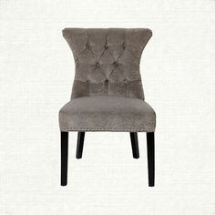 Alexis Tufted Upholstered Dining Side Chair in Elizabeth Platinum