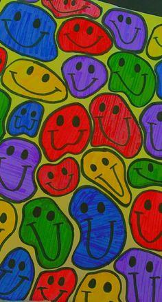 Indie art drawing smiles