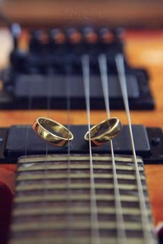 Our wedding ring in guitar.
