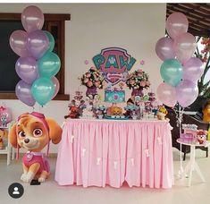 Baby Girl Birthday Theme, Paw Patrol Birthday Girl, Unicorn Birthday Parties, 3rd Birthday, Paw Patrol Party Decorations, Birthday Party Decorations, Paw Patrol Cake, Sky Paw Patrol, Paw Patrol Birthday Cake