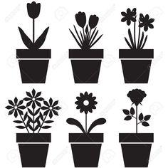 Risultati immagini per sagome di fiori