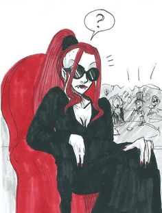 Gothetta Sketch like Lady Gaga in a nightclub. Gothetta (c) School for vampires, Hahn films Gaga Cosplay?