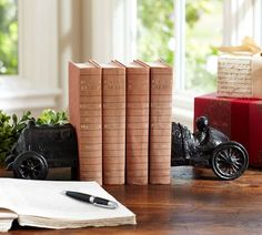 I think I have been living with a car lover for too long cause I love these bookends!!!