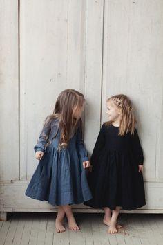 Handmade Linen Dress SondeflorShop on Etsy Little Girl Fashion, Little Girl Dresses, Toddler Fashion, Kids Fashion, Girls Dresses, Dresses Dresses, Friends Fashion, Fashion 2016, Fashion Vintage