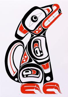 Haida Kunst, Haida Art, Tribal Animal Tattoos, Tribal Art, Native American Design, American Indian Art, Native Design, Haida Tattoo, Indian Artwork