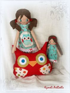 Doll,Mini Doll and Owl for play ...