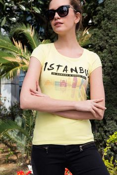Yellow Istanbul T-shirt Istanbul, Buy Now, Oil, Yellow, T Shirt, Stuff To Buy, Shopping, Collection, Women